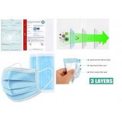 Медицинская трёхслойная маска в упак. 50шт (2500/20)