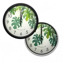 Часы №CZK-562G-8 настен. пл. кругл. 2цв (24,5*24,5*4)см в кор. (40)