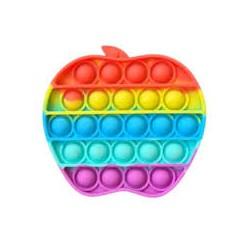 Сенсорная игрушка Pop It антистресс, яблоко разноцветная