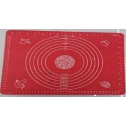 коврик силик. для теста с рисун. 40*50 размер 3цв.