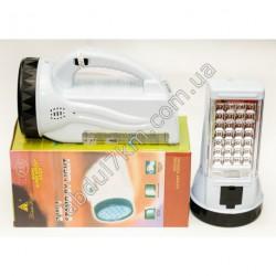 A504 Аккумуляторный прожектор светодиодный ручной фонарик беспроводной Yajia YJ-222 Оригинал (19+28 LED)