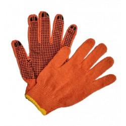 Перчатки №9-550 (№М-44-1) оранж. с чёр. точка х/б 12пар 24см 45гр (600/12)