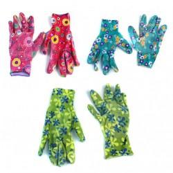 Перчатки №П-145-2 нейлон. женские 5рис. 5цв 12пар в кл. Супер качество 23см 31гр (600)