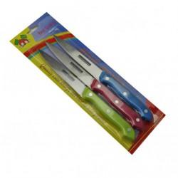Нож №С-302 в наб. с пл. цв. руч. 3шт 3цв 1разм. 4д. на листе (240)