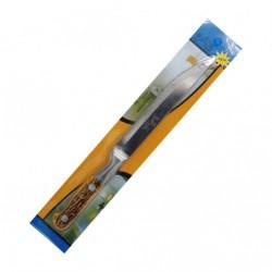 Нож №К-4 кух. нерж. с пл. руч. 2кноп. на листе 4д (480)