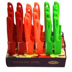 Нож №А-1 фрукт. метал. без рис. с пл. руч. и пл. чехлом 24шт в красивой коробке 3,5д (600)