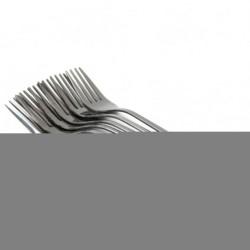 Вилка №185-2 столовая серебро с капл. 6шт в кл. (600)