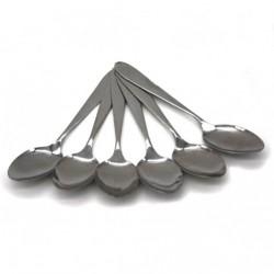 Ложка чайная №CD357C метал. чист. серебро 6шт в пач. (600)