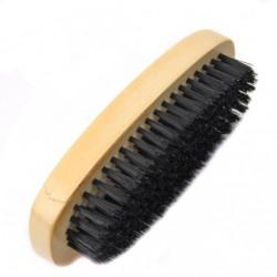 Щётка №102 дер. для обуви корич.+чёр. волос. (3,2*5,2*14,2)см (300)