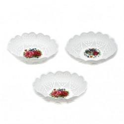 Корзина №750 фруктовница круглая белая (600)